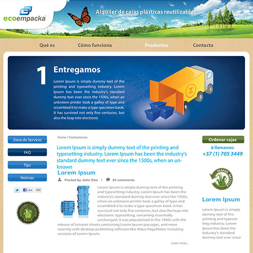 Dotaseg - ecoempacka sitio web