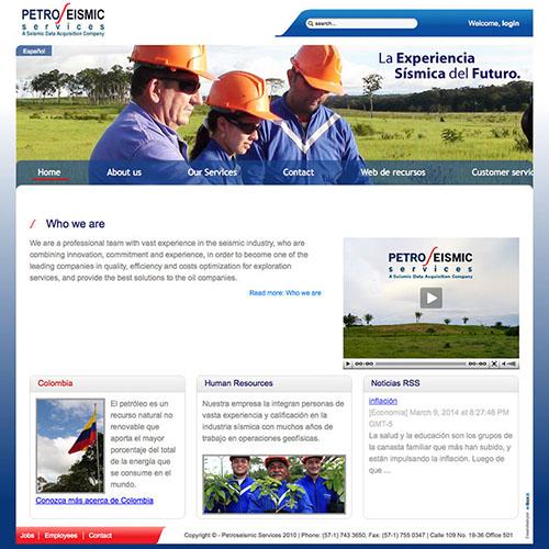 Dotaseg - petroseismic sitio web